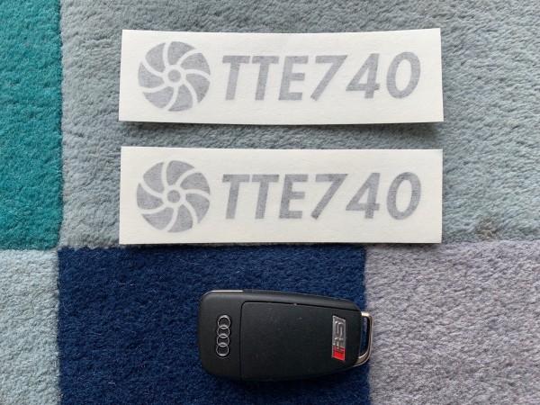 TTE740 Decal Sticker Black Medium