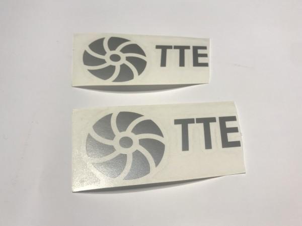TTE Decal Sticker Silver Medium