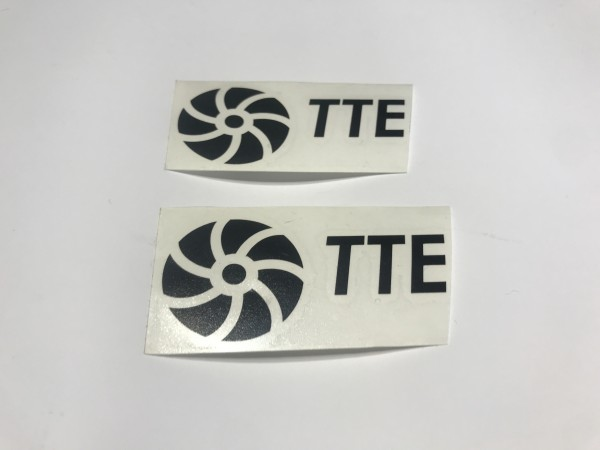 TTE Decal Sticker Black Medium