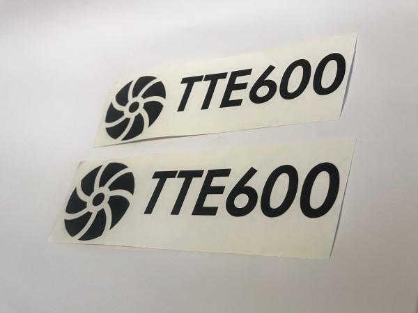 TTE600 Decal Sticker Black Large