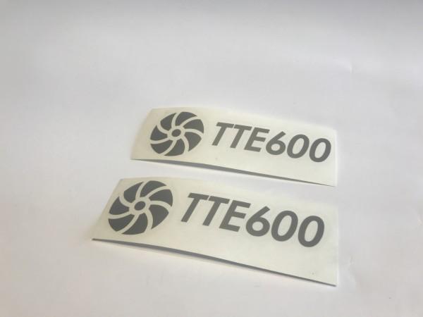 TTE600 Decal Sticker Silver Small