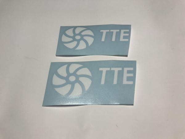 TTE Decal Sticker White Medium