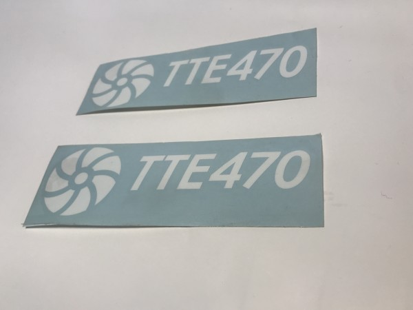 TTE470 Decal Sticker White Medium