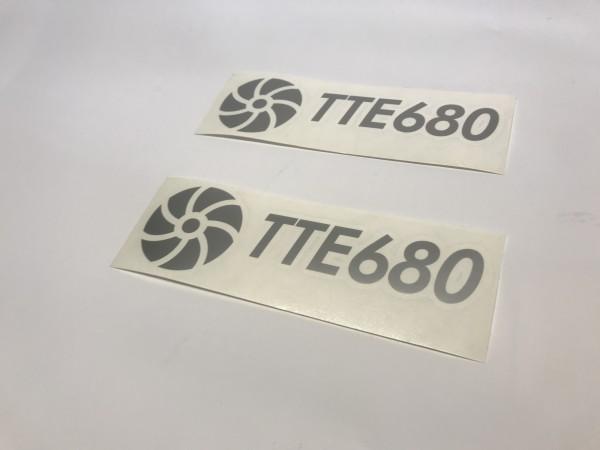 TTE680 Decal Sticker Silver Medium