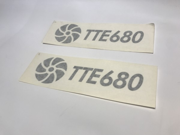 TTE680 Decal Sticker Black Large