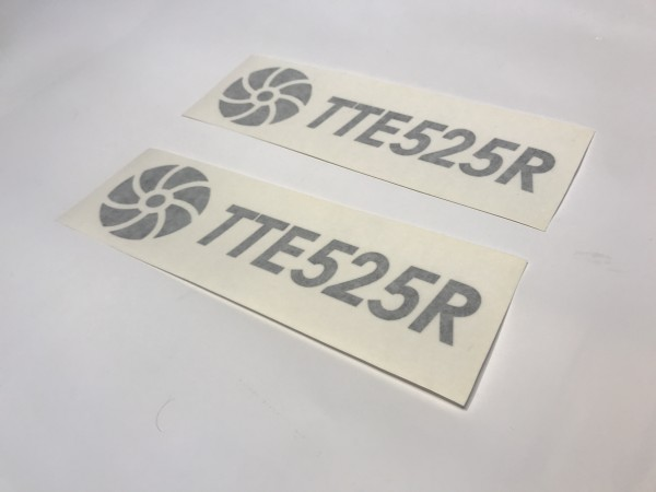 TTE525R Decal Sticker Black Large