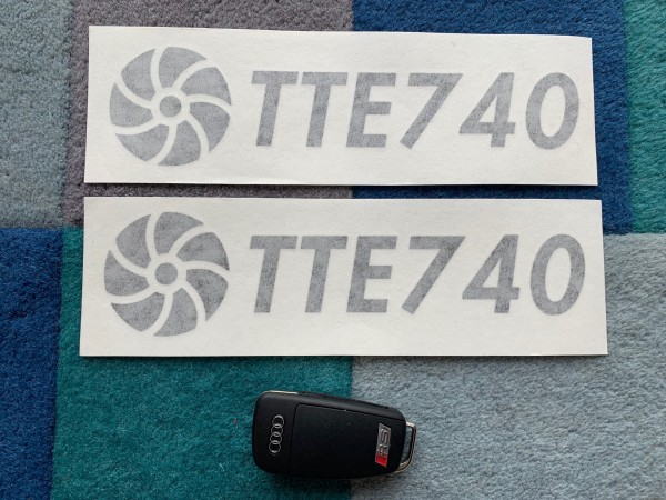 TTE740 Decal Sticker Black Large